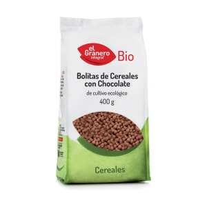Bolitas de Cereales con Chocolate BIO – El Granero Integral – 400 gr