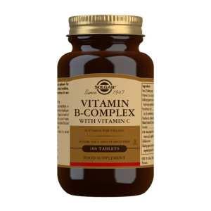 Vitamina B-Complex con Vitamina C – Solgar – 100 comprimidos