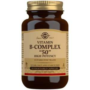 Vitamina B-Complex 50 – Solgar – 50 cápsulas