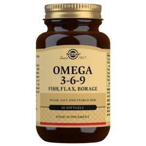 Omega 3-6-9 (Pescado, Lino y Borraja) – Solgar – 60 Cápsulas