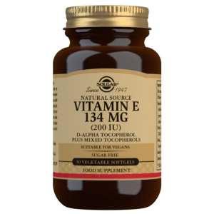Vitamina E 200 UI Seca – Solgar – 50 cápsulas