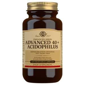 40 Plus Acidophilus Avanzado – Solgar – 120 cápsulas