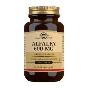 Alfalfa 600 mg – Solgar – 100 comprimidos