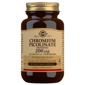 Picolinato de Cromo 200 mcg – Solgar – 90 cápsulas