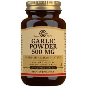 Ajo en Polvo de Cultivos Controlados 500 mg – Solgar – 90 Cápsulas
