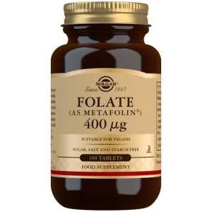 Folato (Metafolin®) 400 mcg – Solgar – 100 comprimidos