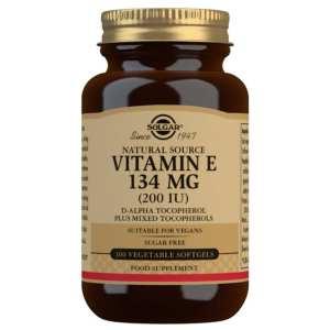 Vitamina E 200 UI – Solgar – 100 perlas
