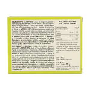 Magnesio + Potasio – Integralia – 60 cápsulas