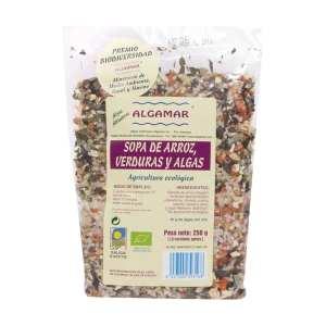 Sopa de Arroz, Verduras y Algas – Algamar – 250 g