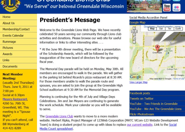 image of Greendale Lions Club (student design)