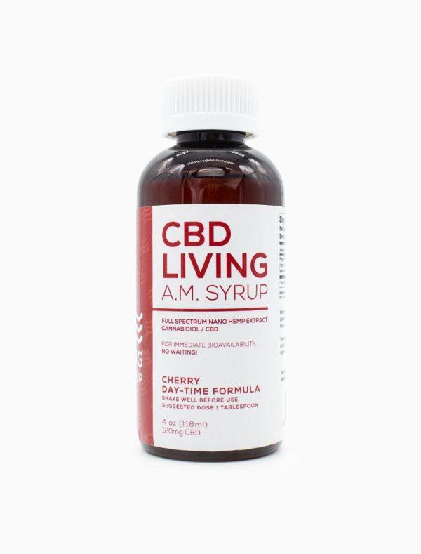 CBD Living AM Syrup Cherry