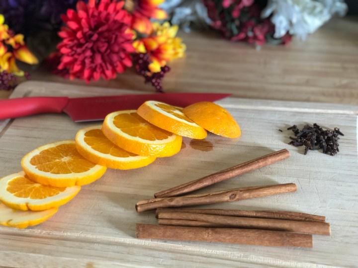 Orange Cut & Ready to Go.