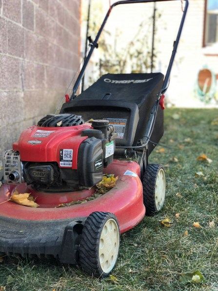 Our lawnmower ready for action.