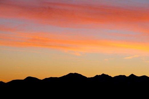 Sonnenaufgang über den Niederen Tauern