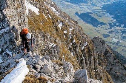 Auf dem Grat hoch über dem Ennstal
