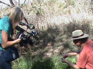Kelsey filming Lanny or KEYT news