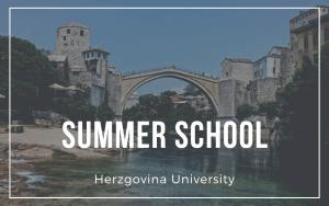 Summer school – Herzegovina University
