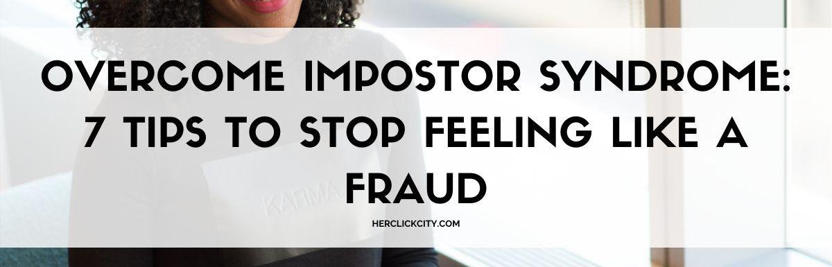 blog post header image for overcome impostor syndrome