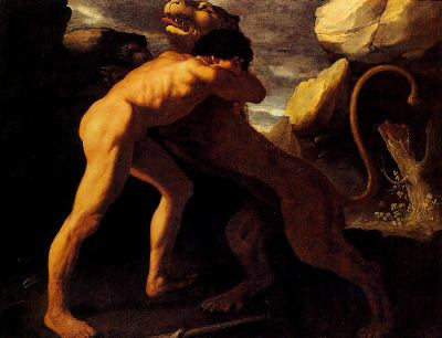 Héraclès et le lion de Némée,