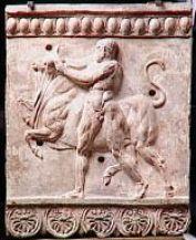 Hercule ramenant le taureau de Crète,