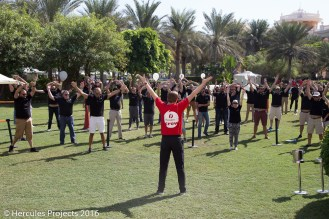 Hercules Projects organised an active team day at Kempinski The Palm in Dubai to bring the Customer First principles to life.
