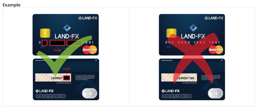 Security Bank Card Number