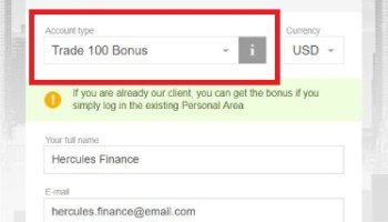 What's the requirement to get FBS's 100 USD No Deposit Bonus