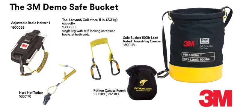 3m fall protection demo safe bucket