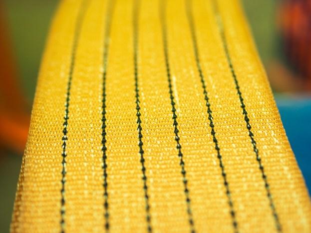 Yellow nylon soft lifting sling