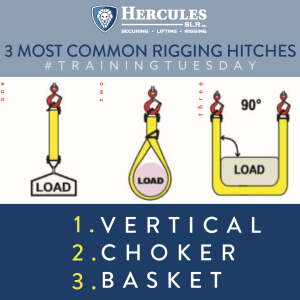 3 most common rigging hitches