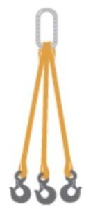 Three leg web sling