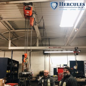 chain hoist, Welcome to Ontario: brampton riggers talk chain hoist safety, hercules slr