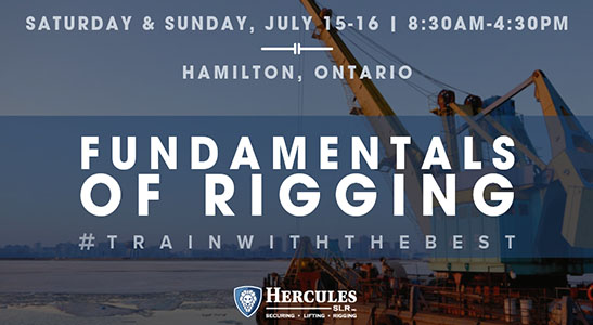 rigging course, fundamentals of rigging in hamilton ontario