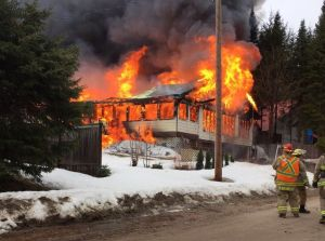 Fully engulfed home fire