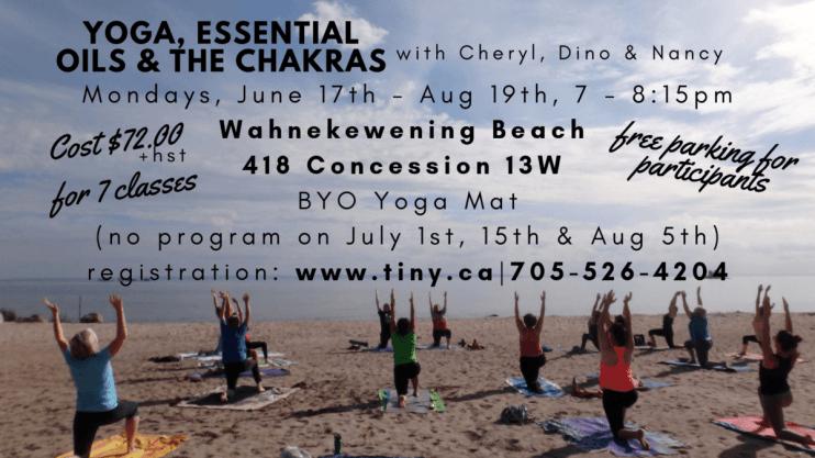 Yoga on the Beach - Wahnekewening Beach - Summer 2019 -  Tiny, ON