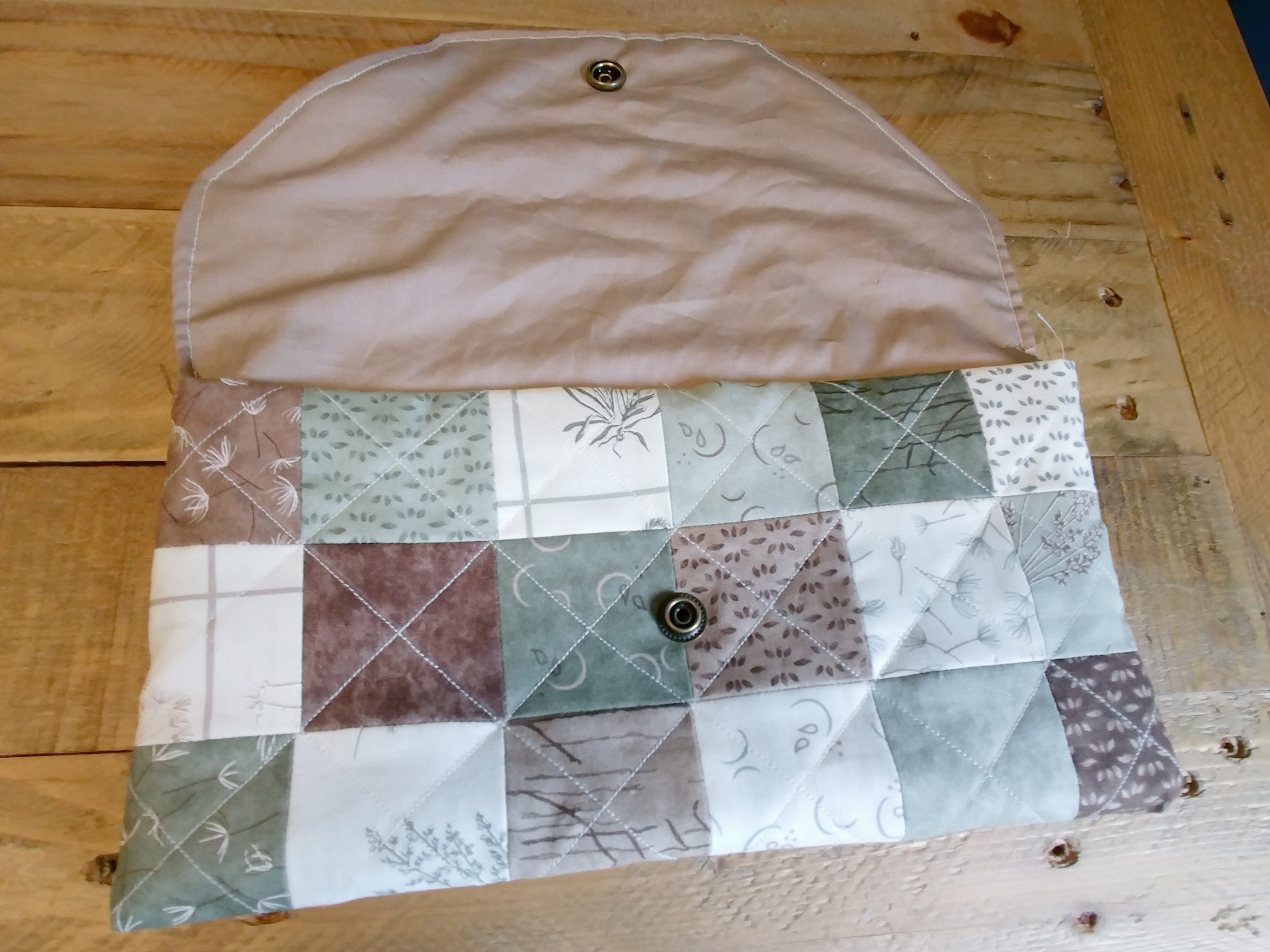 Patchwork Pouch Sewn Together