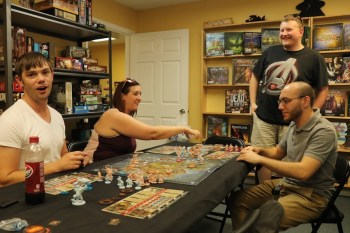 Ian teaching Blood Rage in the Dragon Room