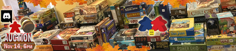 80 Games Submitted So Far for November 14 Virtual Game Auction