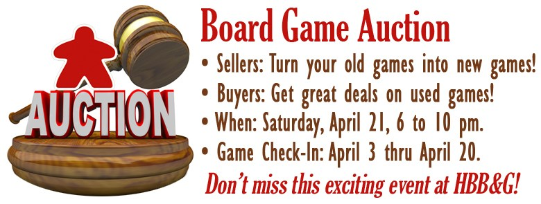 Board Game Auction April 2018