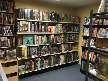 Treasure Room filled with boardgames and RPGs for sale
