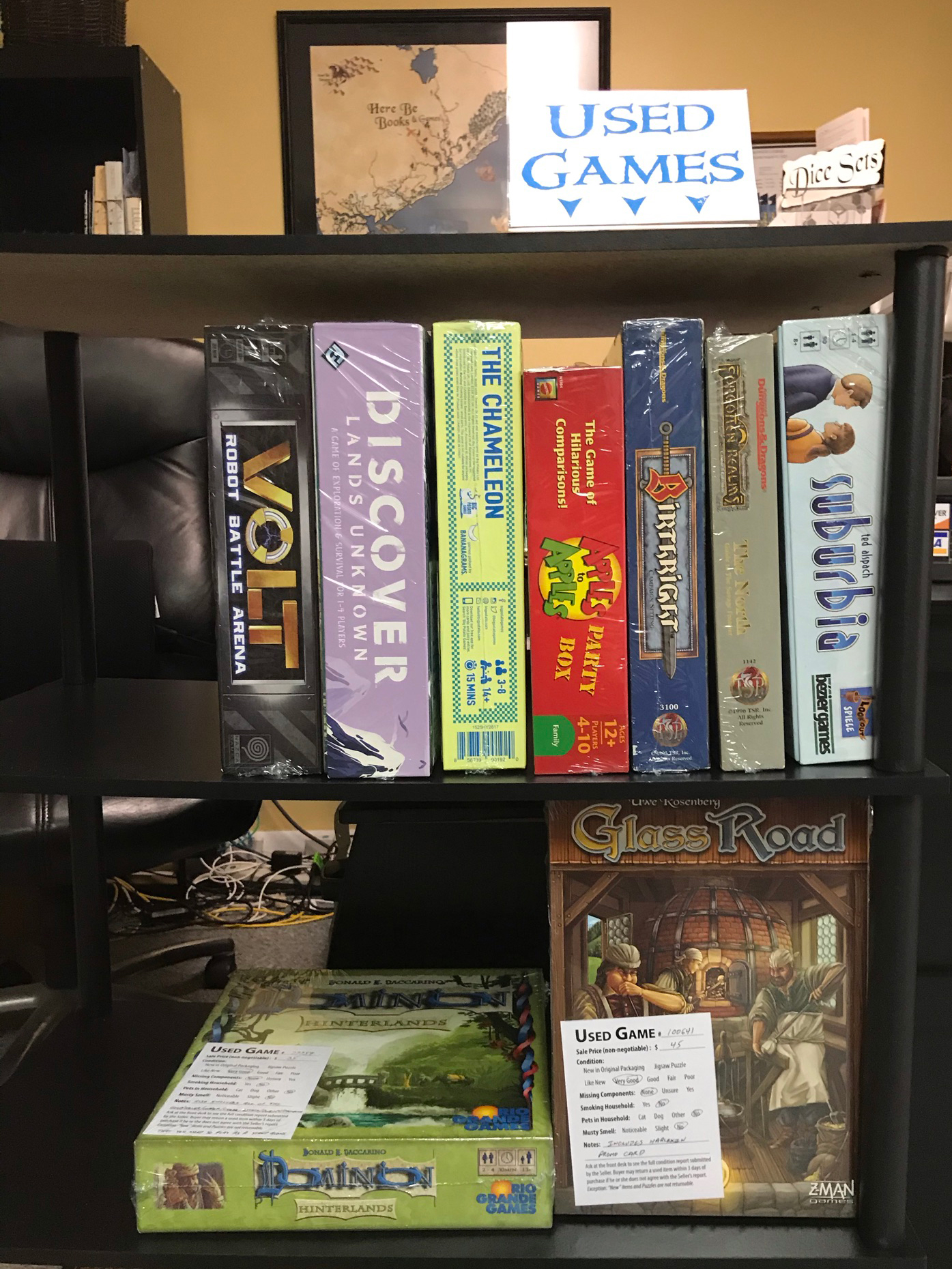 Used Games Section 2 of 3 at Here Be Books & Games