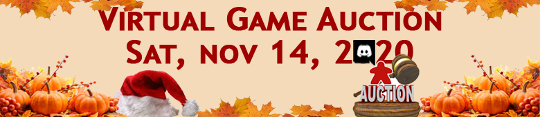 Virtual Game Auction November 14, 2020