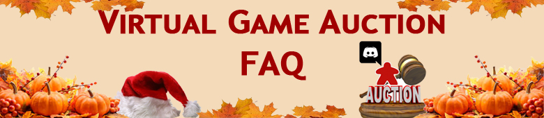 Virtual Game Auction FAQ – November 2020