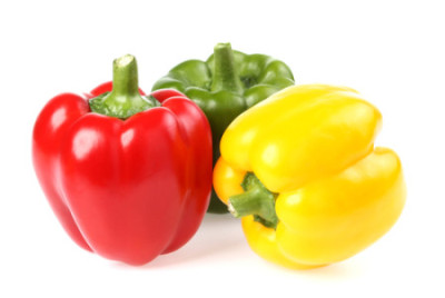 red green and yellow peppers