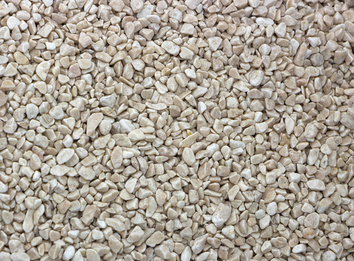 White gravel mulch is great for lavender