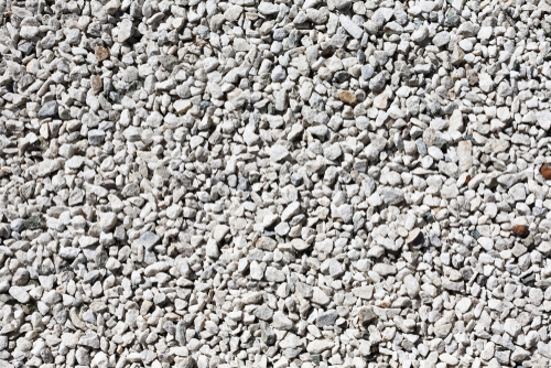 white gravel mulch