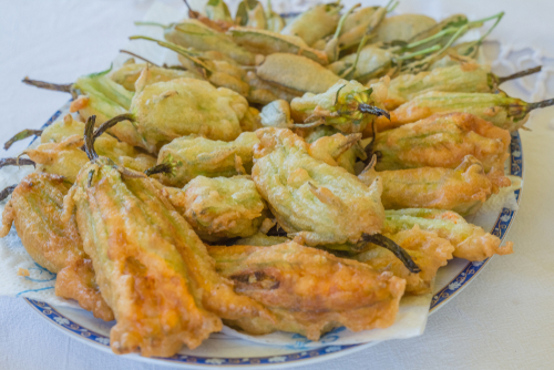 deep fried squash blossoms