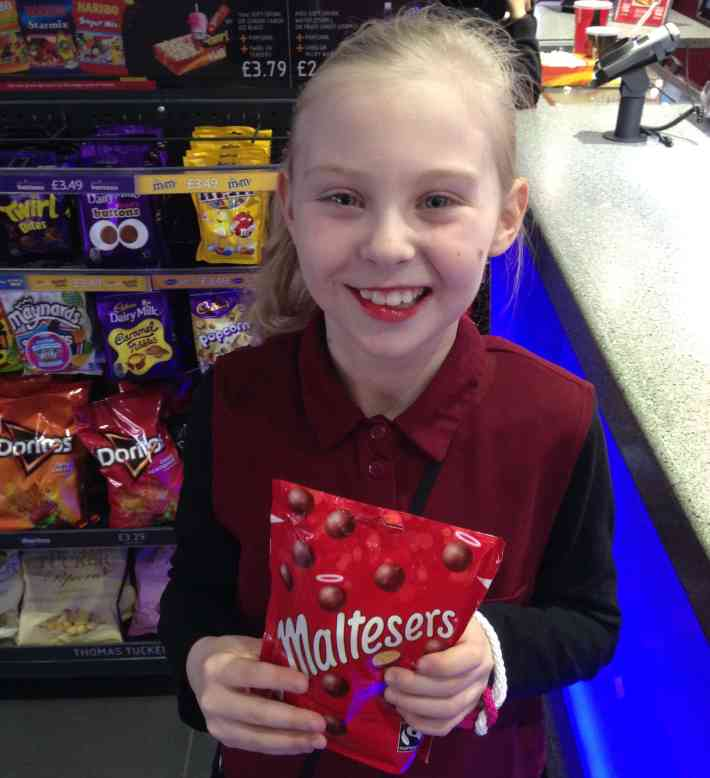 Goosebumps movie and malteasers