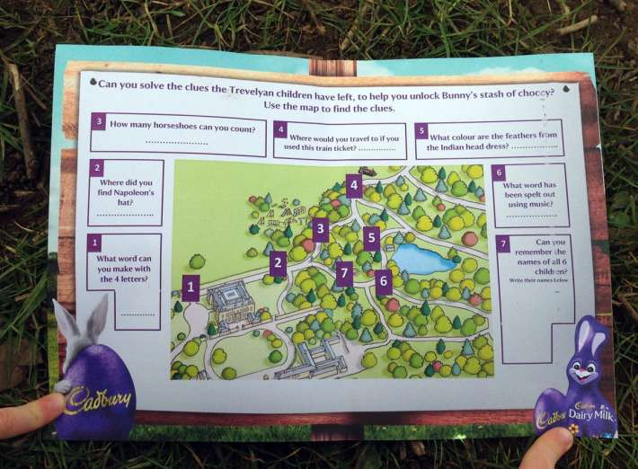 Wallington Hall Easter Egg Hunt Map