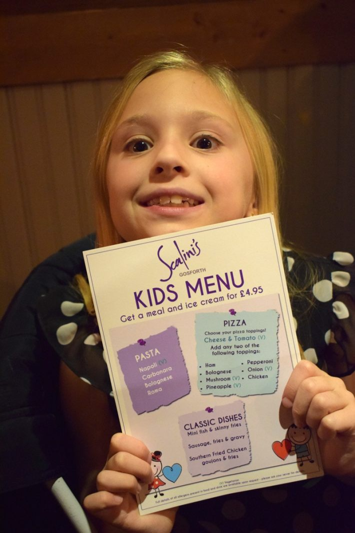 Scalini's Kids Menu